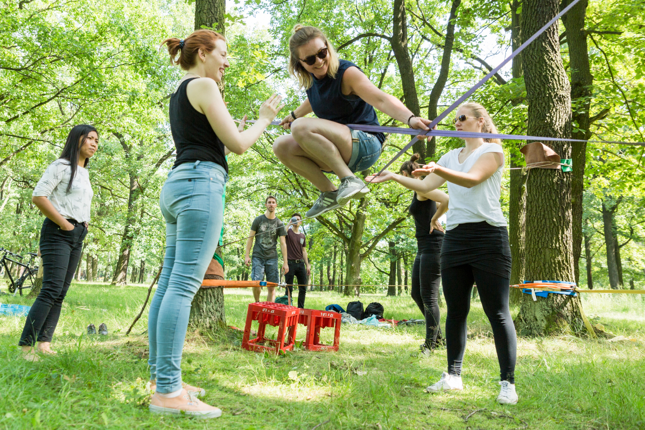 Workshop mit Slackline